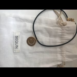 Sequin NYC Jewelry - Moon and Star TALISMAN CHOKER NECKLACE